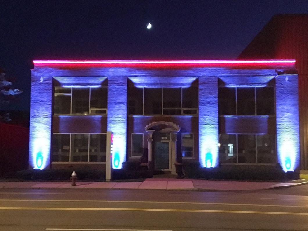 building facade lighting. Or 4th Of July\u2026 Building Facade Lighting